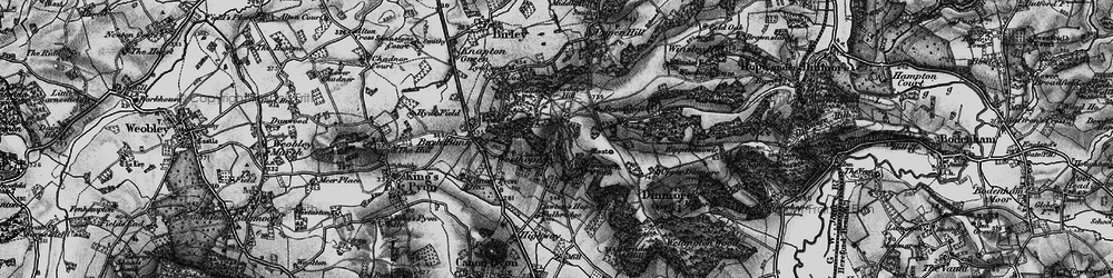 Old map of Westhope Hill in 1898