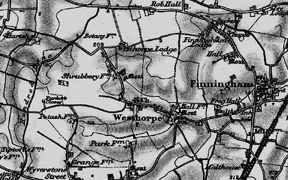 Old map of Westhorpe in 1898
