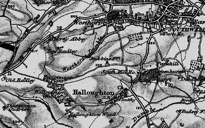 Old map of Westhorpe in 1899