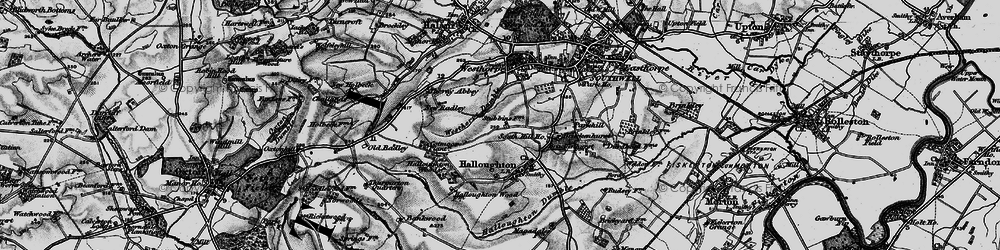 Old map of Westhorpe Dumble in 1899