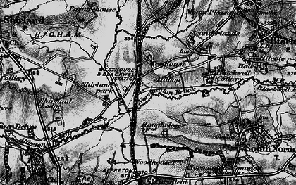 Old map of Alfreton & Mansfield Parkway Station in 1896