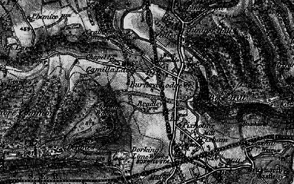 Old map of Ashcombe Wood in 1896