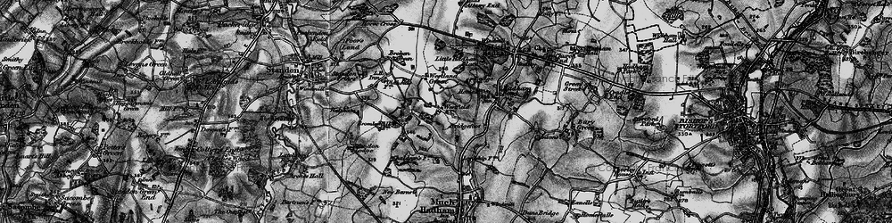 Old map of Westland Green in 1896