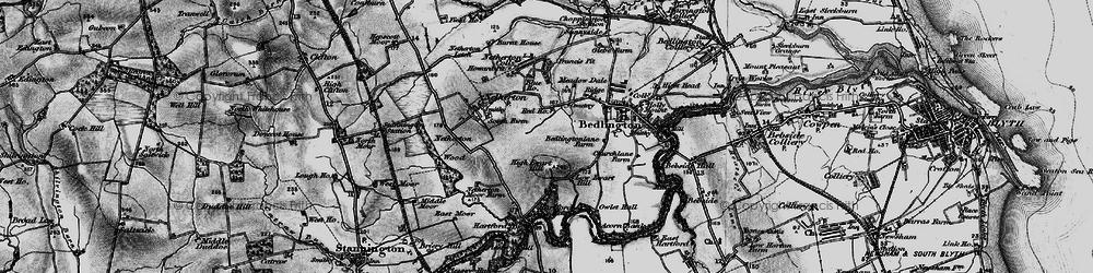 Old map of Westlea in 1897