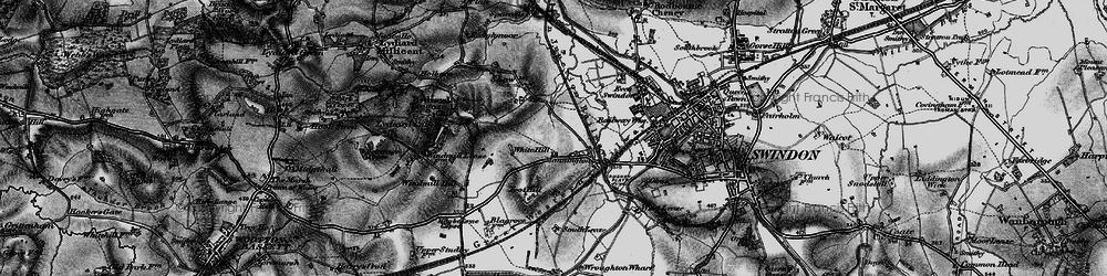 Old map of Westlea in 1898