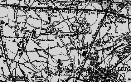 Old map of Westleigh in 1896