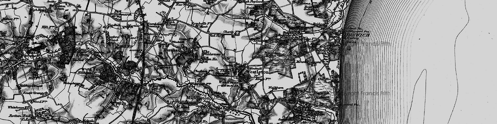 Old map of Westleton in 1898