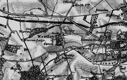 Old map of Westley in 1898