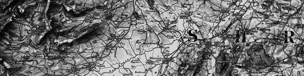 Old map of Westley in 1899