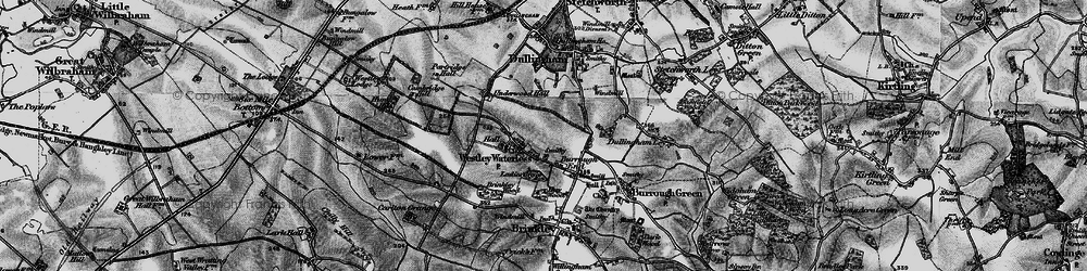 Old map of Westley Waterless in 1898