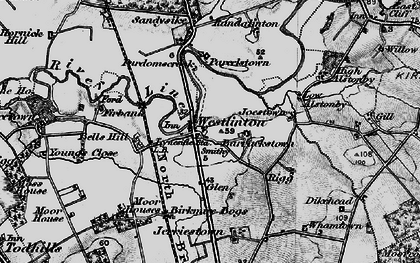Old map of Westlinton in 1897