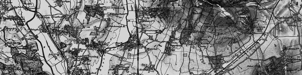 Old map of Westmancote in 1898