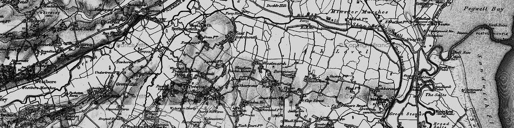 Old map of Westmarsh in 1895