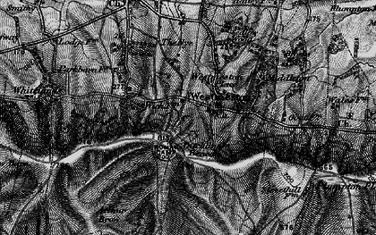 Old map of Westmeston Place in 1895