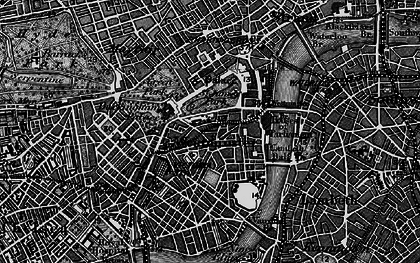 Old map of Westminster in 1896