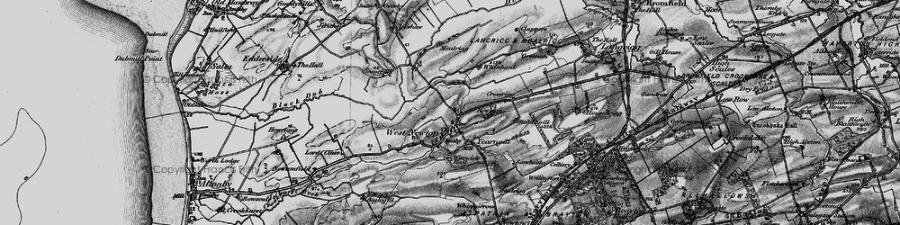 Old map of Westnewton in 1897