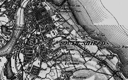 Old map of Westoe in 1897