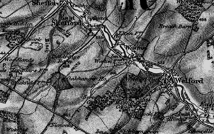 Old map of Weston in 1895