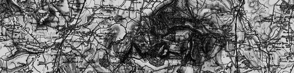Old map of Weston Heath Coppice in 1897