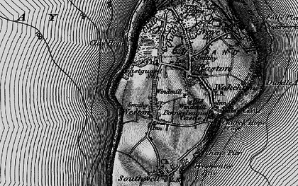 Old map of Weston in 1897
