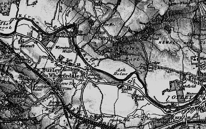 Old map of Ash Holme in 1898
