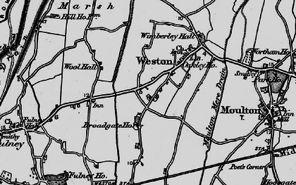 Old map of Weston in 1898