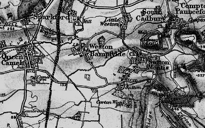 Old map of Weston Bampfylde in 1898