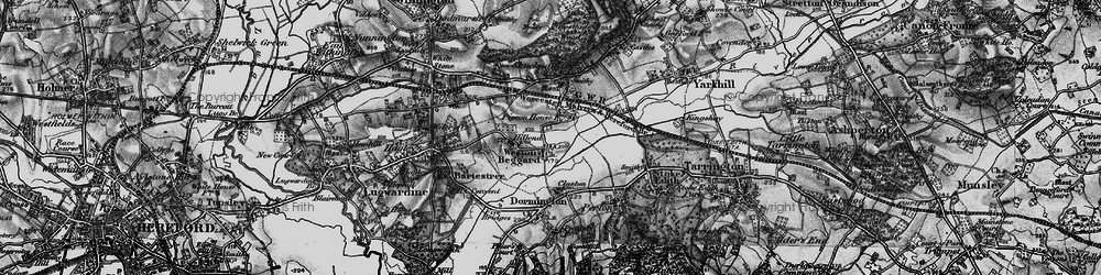 Old map of Weston Beggard in 1898