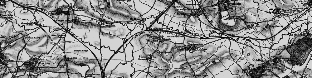 Old map of Weston by Welland in 1898