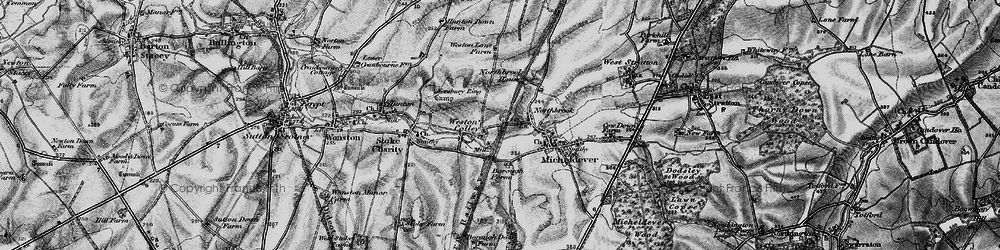 Old map of Weston Colley in 1895
