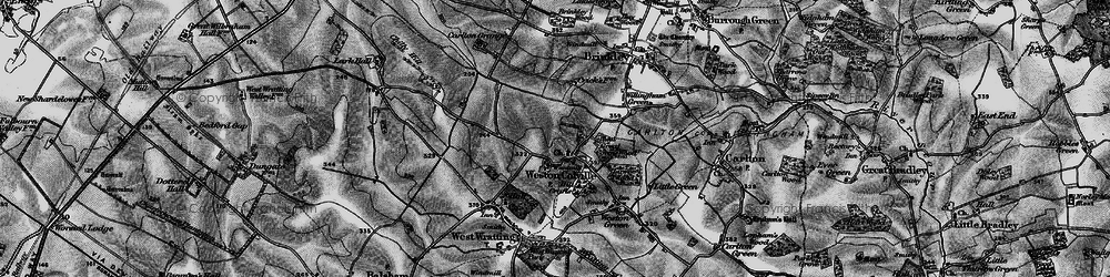 Old map of Weston Colville in 1895