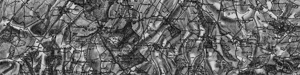 Old map of Weston Corbett in 1895