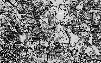 Old map of Weston Coyney in 1897