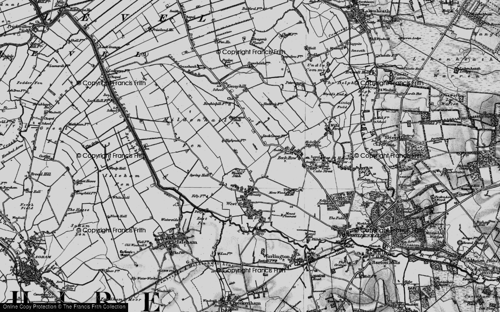 Old Map of Weston Ditch, 1898 in 1898