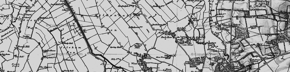Old map of Weston Ditch in 1898