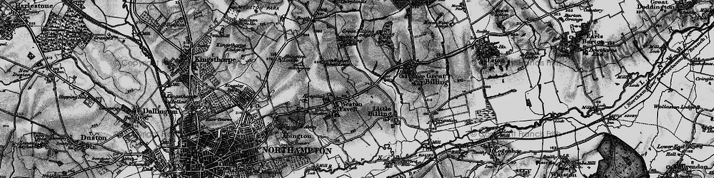 Old map of Weston Favell in 1898