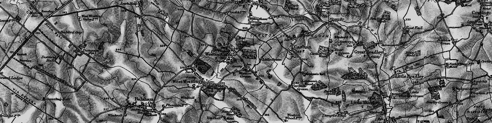 Old map of Weston Green in 1895