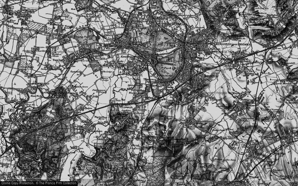 Old Map of Weston Green, 1896 in 1896