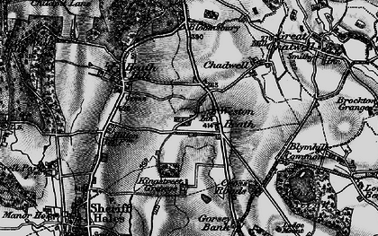 Old map of Weston Heath in 1897