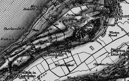 Old map of Weston in Gordano in 1898