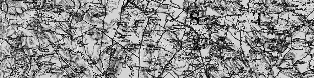Old map of Weston Jones in 1897