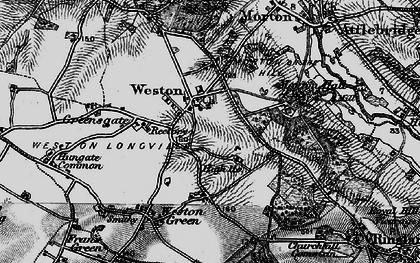 Old map of Weston Longville in 1898