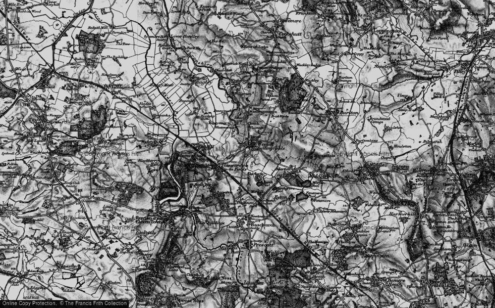 Old Map of Weston Lullingfields, 1899 in 1899