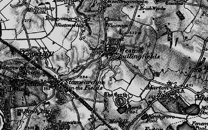 Old map of Weston Lullingfields in 1899