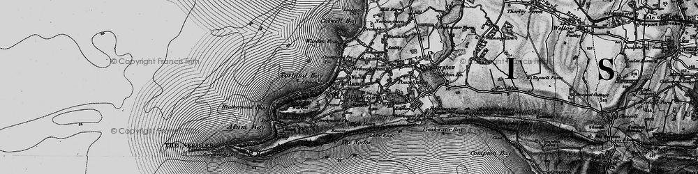 Old map of Weston Manor in 1895