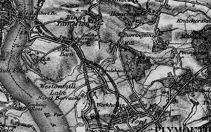 Old map of Weston Mill in 1896