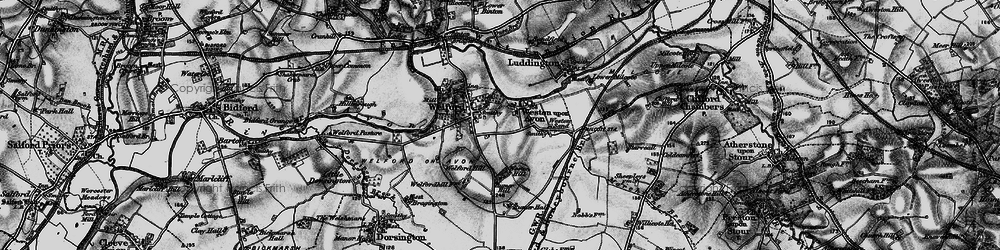 Old map of Weston-on-Avon in 1898