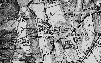 Old map of Weston-on-the-Green in 1896