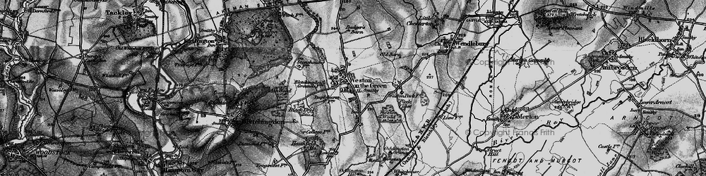 Old map of Weston Wood in 1896