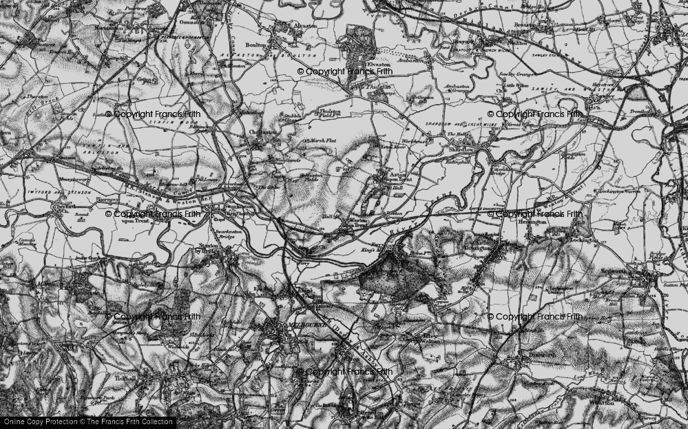 Old Map of Weston-on-Trent, 1895 in 1895
